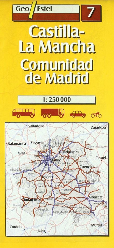 Geo Estel Map 07 - Castilla / La Mancha / Madrid & surroundings - 1:250,000